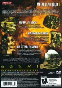 Metal Gear Solid 3: Snake Eater Box Art