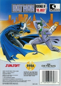 Batman: Revenge of the Joker Box Art