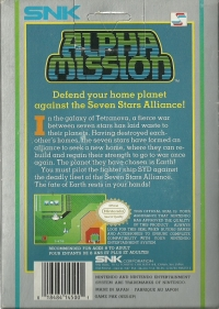 Alpha Mission Box Art