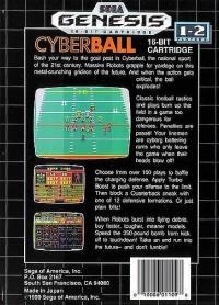 Cyberball Box Art