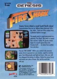 Fire Shark Box Art