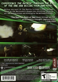 Matrix, The: Path of Neo Box Art