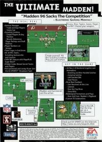 Madden NFL 96 Box Art