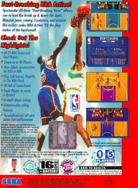 NBA Action '95 starring David Robinson Box Art