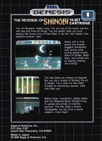Revenge of Shinobi, The Box Art