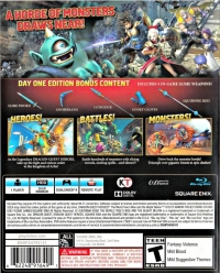 Dragon Quest Heroes: The World Tree's Woe and the Blight Below - Day One Edition Box Art