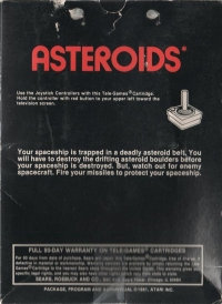 Asteroids (Sears Picture Label) Box Art