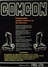 Comcon Programmable Joystick Interface for the Spectrum Box Art