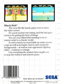 Black Belt (The Mega Cartridge) Box Art