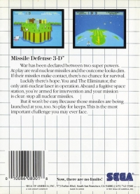 Missile Defense 3-D (Made in Japan) Box Art