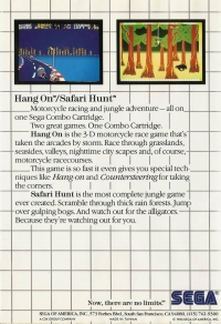 Hang On & Safari Hunt Box Art