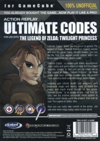 Action Replay Ultimate Codes - The Legend of Zelda: Twilight Princess Box Art