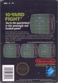 10-Yard Fight (3 screw cartridge) Box Art