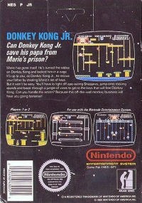 Donkey Kong Jr. - Arcade Classics Series (5 screw cartridge) Box Art