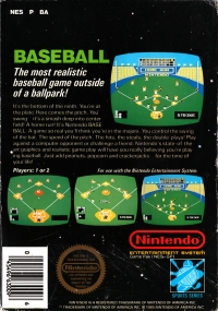 Baseball (5 screw cartridge) Box Art