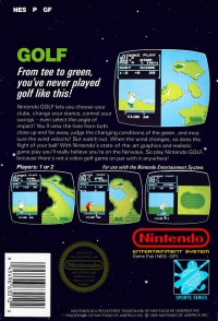 Golf (5 screw cartridge) Box Art