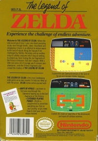 Legend of Zelda, The (5 screw cartridge) Box Art