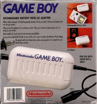 Game Boy Rechargable Battery Pack/AC Adapter [NA] Box Art