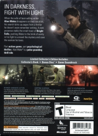 Alan Wake - Limited Collector's Edition Box Art