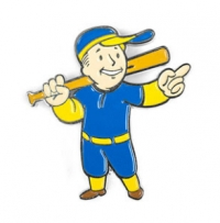 Fallout Vault Boy Pin of the Month - Big Leagues Box Art
