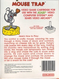 Mouse Trap (Coleco Cart) Box Art