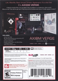 Axiom Verge - Multiverse Edition Box Art