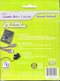 InterAct Link Cable & PowerPak For Game Boy Color (Kmart Exclusive Box Art