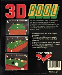 3D Pool (big box) Box Art