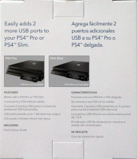 Insignia - 4-Port High Speed USB Hub for PS4 Pro and PS4 Slim - Black Box Art
