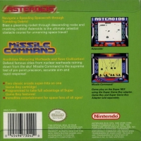 Arcade Classics No.1: Asteroids/Missile Command Box Art