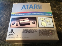 Atari TV Antenna Switch Box and Switch Box Adapter (silver box) Box Art