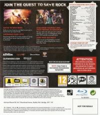 Guitar Hero: Warriors of Rock (NOT FOR RESALE) Box Art