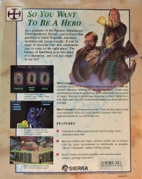 Hero's Quest: So You Want to be a Hero Box Art