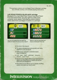 Las Vegas Poker & Blackjack (green label) Box Art