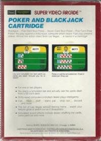 Super Video Arcade: Las Vegas Poker & Blackjack Box Art