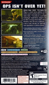 Metal Gear Solid: Portable Ops Plus Box Art