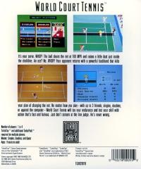 World Court Tennis Box Art
