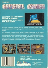 Crystal Mines (blue cartridge) Box Art