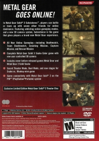 Metal Gear Solid 3: Subsistence - Limited Edition Box Art
