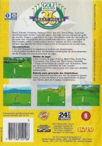 Golf Magazine Presents 36 Great Holes Starring Fred Couples Box Art
