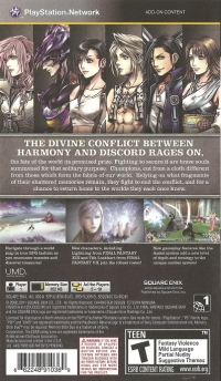 Dissidia 012[duodecim] Final Fantasy Box Art