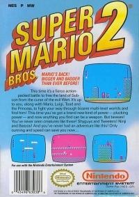 Super Mario Bros. 2 Box Art