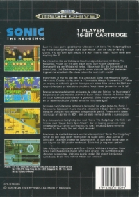 Sonic the Hedgehog (Made in Malaysia) Box Art