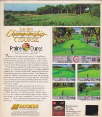 Links Championship Course: Prairie Dunes Country Club Hutchinson, Kansas Box Art
