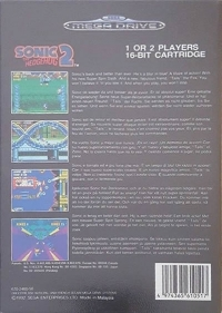 Sonic the Hedgehog 2 (Made in Malaysia) Box Art
