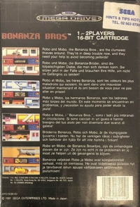 Bonanza Bros. Box Art