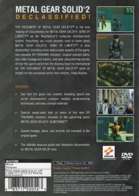 Document of Metal Gear Solid 2, The Box Art