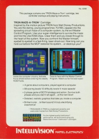 Tron: Maze-A-Tron (Red Cartridge Label) Box Art