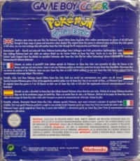 Nintendo Game Boy Color - Pokémon Special Edition [EU] Box Art