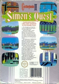 Castlevania II: Simon's Quest Box Art